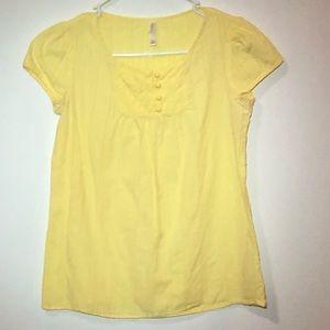 xhilaration Yellow Blouse Size Medium